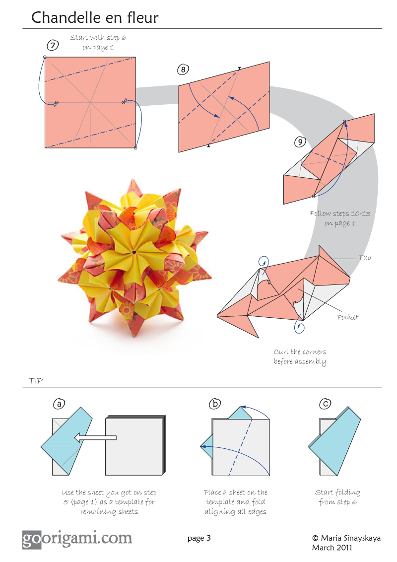 D Origami Flower Diagrams Pdf Modle Rose Pinterest Pin Flowers Chandelle Kusudama By Maria Sinayskaya Diagram View Large