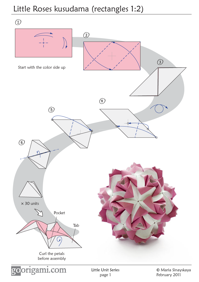Little Roses Kusudama - diagram - photo#29