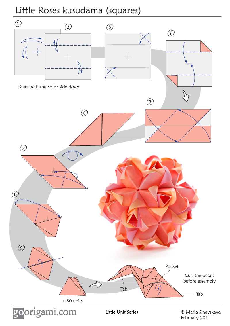 Little Roses Kusudama - diagram - photo#23