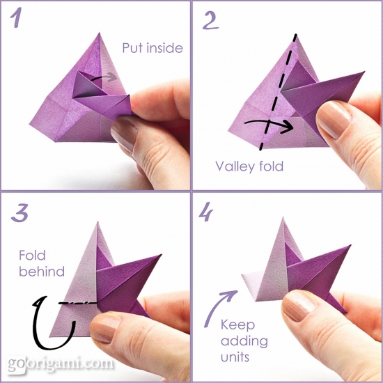 Origami star by enrica dray modular origami star go for How to make a star with paper step by step
