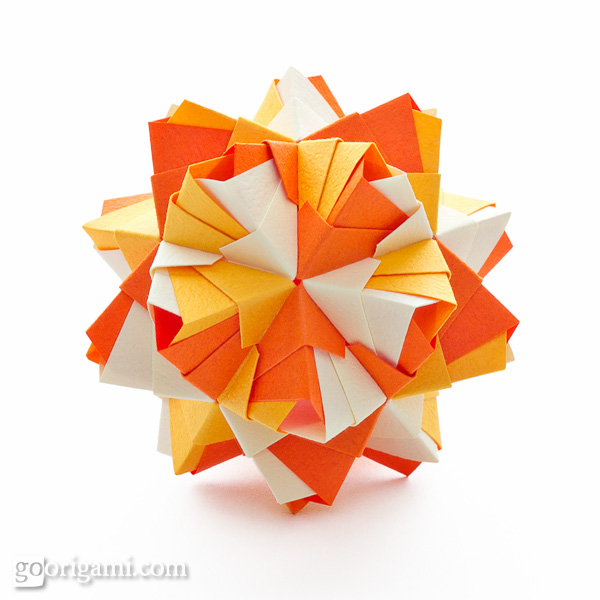 origami Little Kusudama Roses  video   diagram kusudama