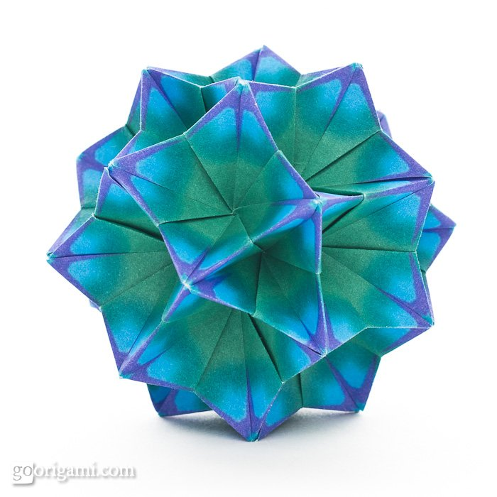 Bellflower kusudama by tomoko fuse go origami bellflower kusudama by tomoko fuse mightylinksfo
