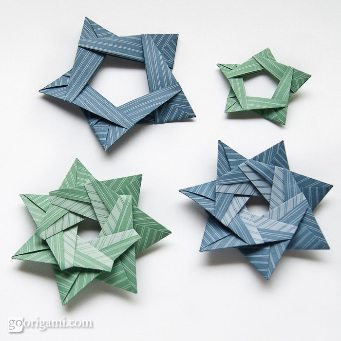 ... of 3D Star Template 3D Star Ornament Template, 3D Paper Star