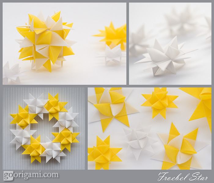 Froebel Star, German Paper Star