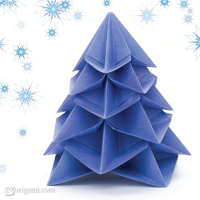 Christmas Tree Star Origami