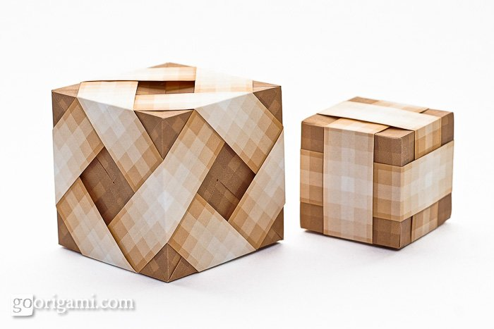 Origami Cubes by Tomoko Fuse