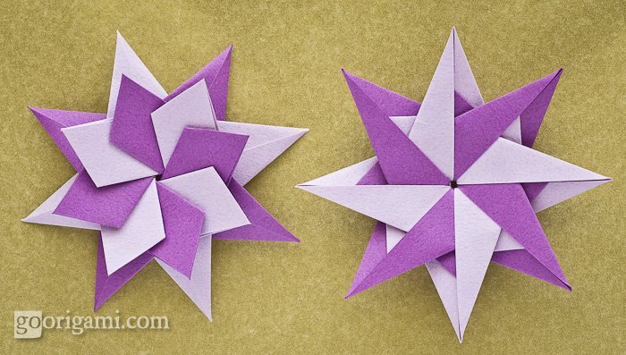 Origami modular star | 3D Origami Star Tutorial - YouTube | 397x700
