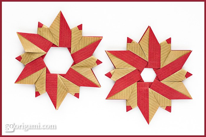 Origami Christmas Wreath  Holiday Origami  Go Origami