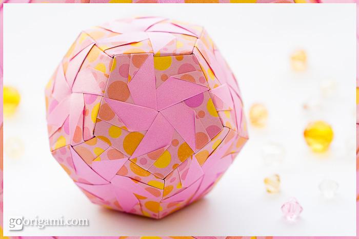 Origami Pinwheel Dodecahedron by Meenakshi Mukerji