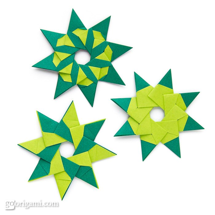 Origami instructions com 8 pointed origami star - 8 Pointed Modular Origami Stars By Maria Sinayskaya Go