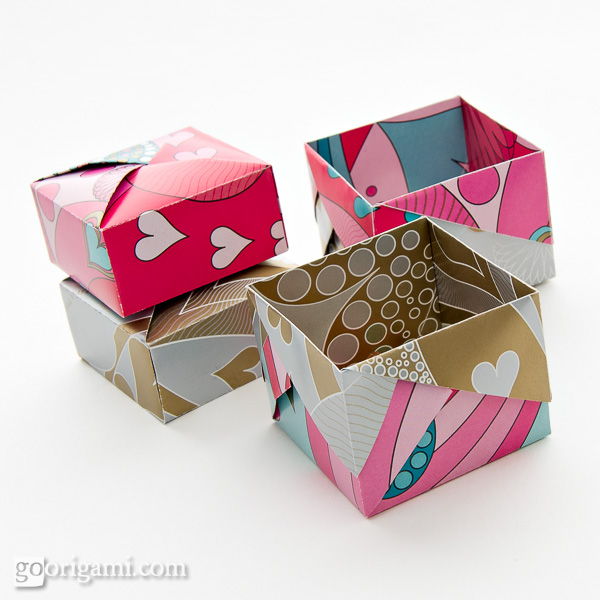 Origami boxes and dishes gallery go origami for Diy paper origami