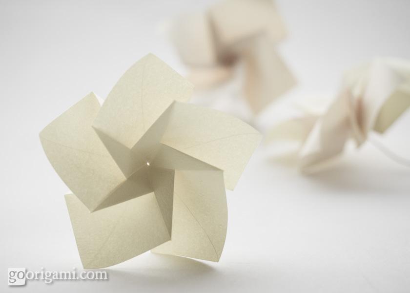 Origami flowers and plants gallery go origami modular origami flower mightylinksfo