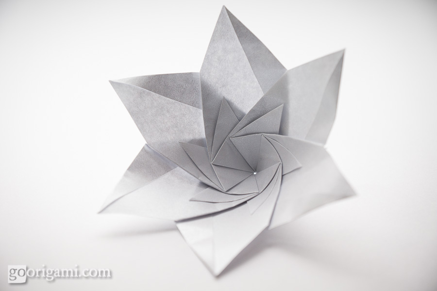 Origami flowers and plants gallery go origami modular origami flower mightylinksfo