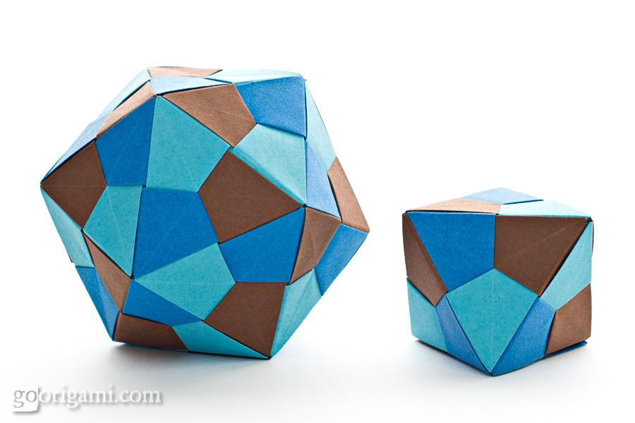 Origami Icosahedron and OctahedronIcosahedron Origami