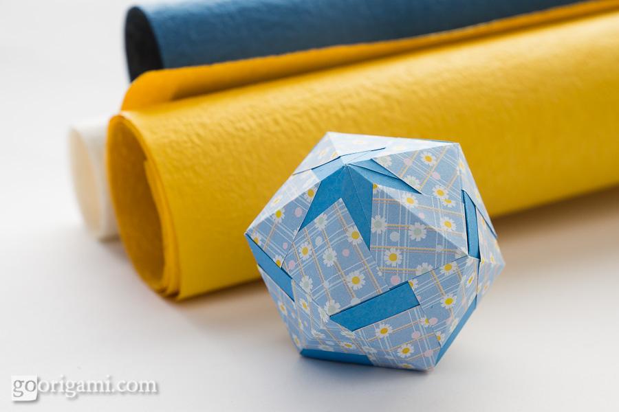 Mary Diamond - IcosahedronIcosahedron Origami
