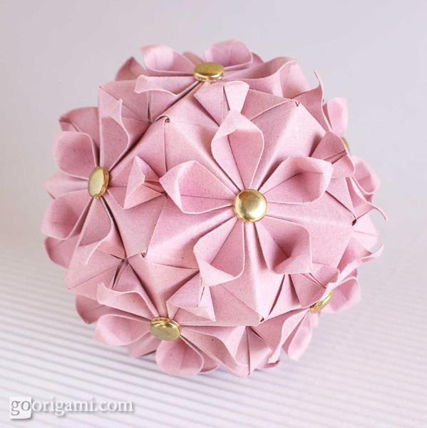 Origami Cherry Blossom Flower | Cherry blossom origami, Blossom ... | 600x599