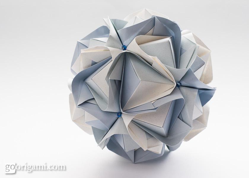 Origami!   Go  glue Maria no  Kusudama kusudama by origami Sinayskaya Diagram  Clover