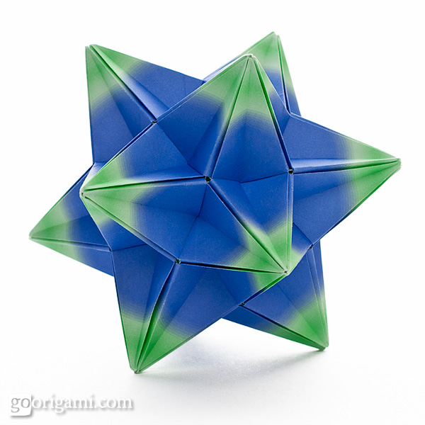 origami spikes and stellated polyhedra � gallery go origami