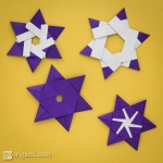 6-Pointed Origami Stars