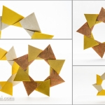 Modular Origami Wreath