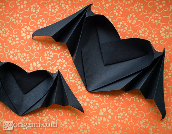 Bat Heart Origami Origami Bat-winged Heart
