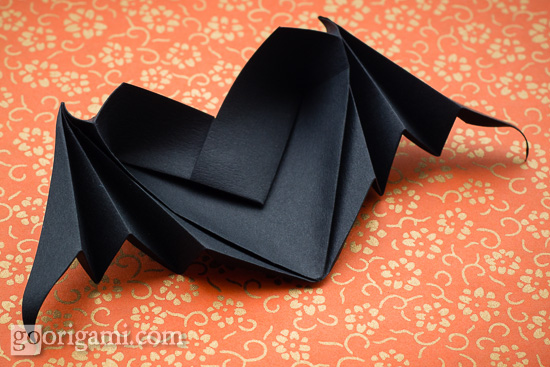 Halloween Origami: Bat-Winged Heart