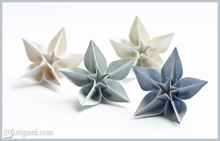 Carambola Flowers — Origami Flowers by Carmen Sprung | Go ... on