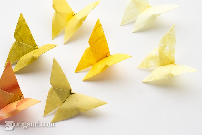 a origami butterfly