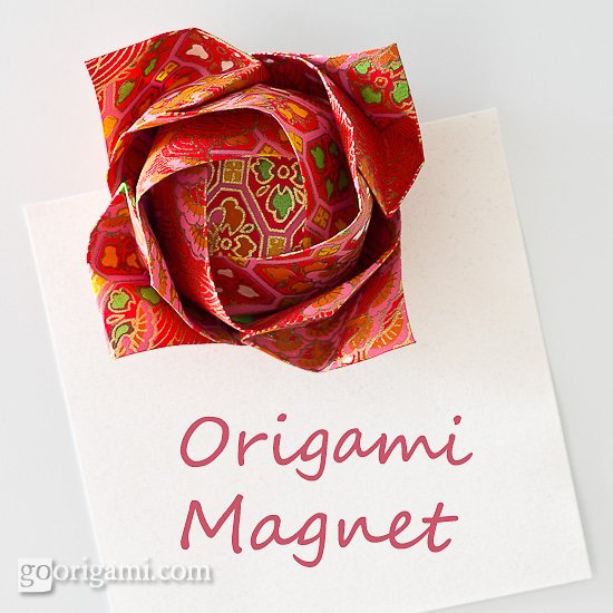 Origami Magnet - Kawasaki Rose