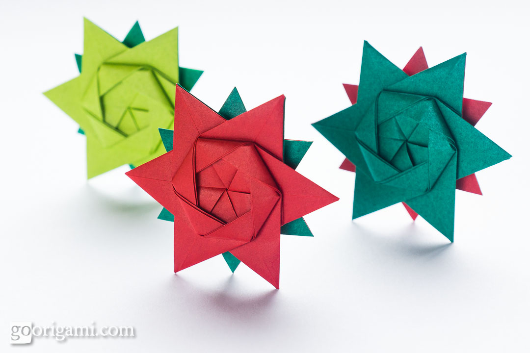 12 Pointed Origami Star By Peter Keller