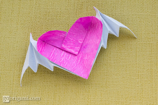 Origami Bat-Winged Heart
