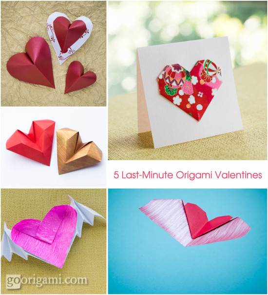 Valentine's Day Origami Flying Heart Origami - Easy - Valentine's ... | 605x550