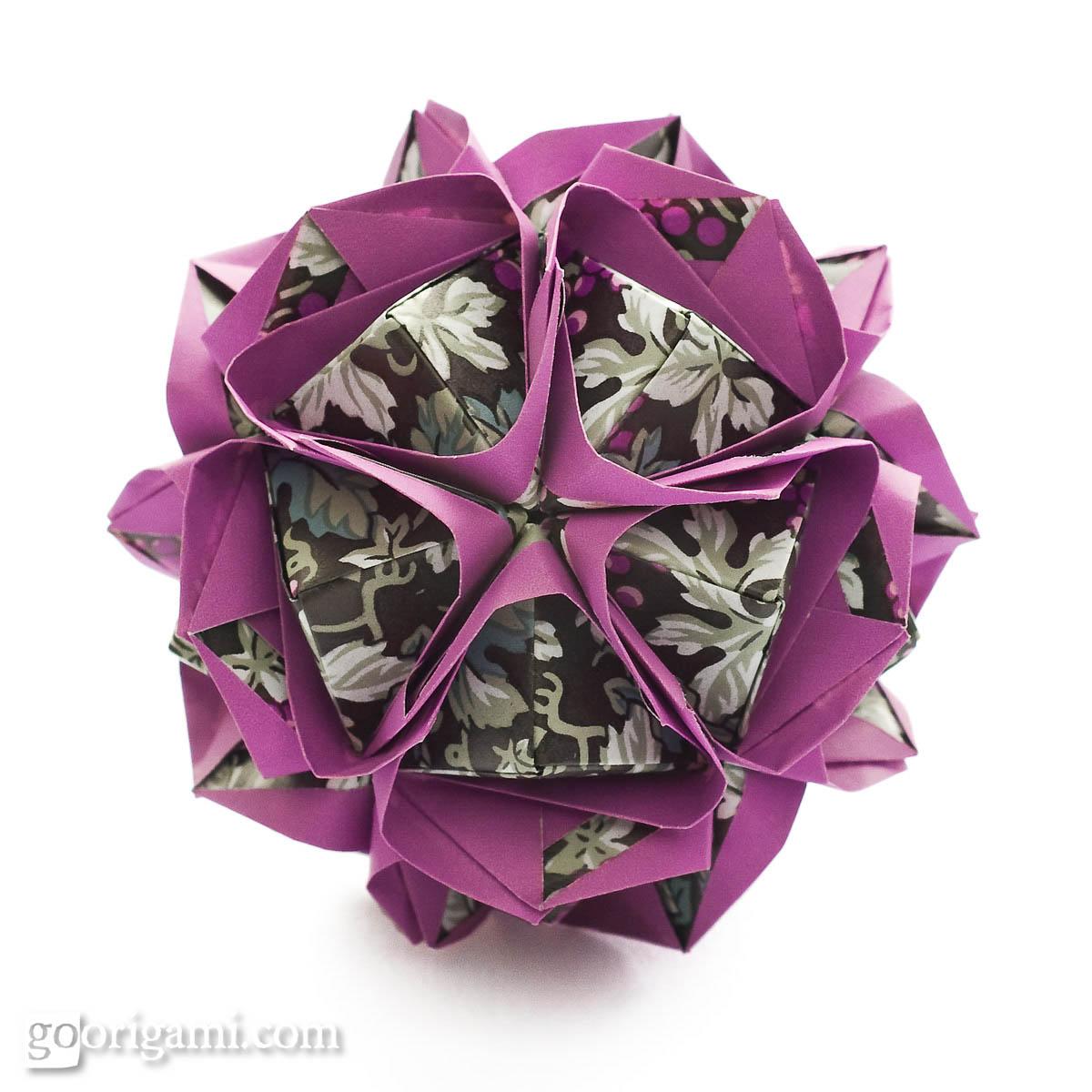 Clover kusudama by maria sinayskaya diagram go origami clover kusudama pooptronica