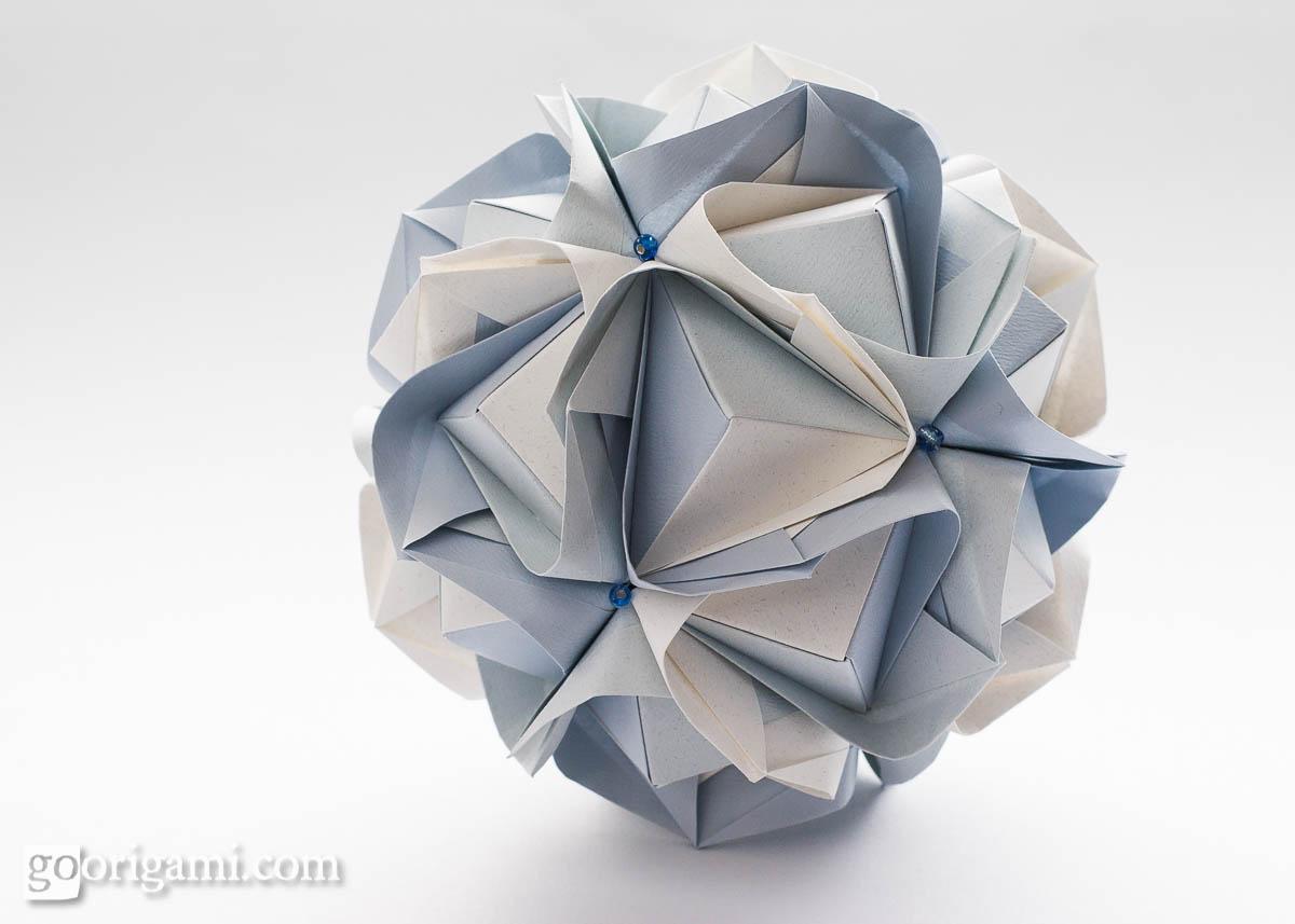 Clover kusudama by maria sinayskaya diagram go origami clover kusudama jeuxipadfo Gallery