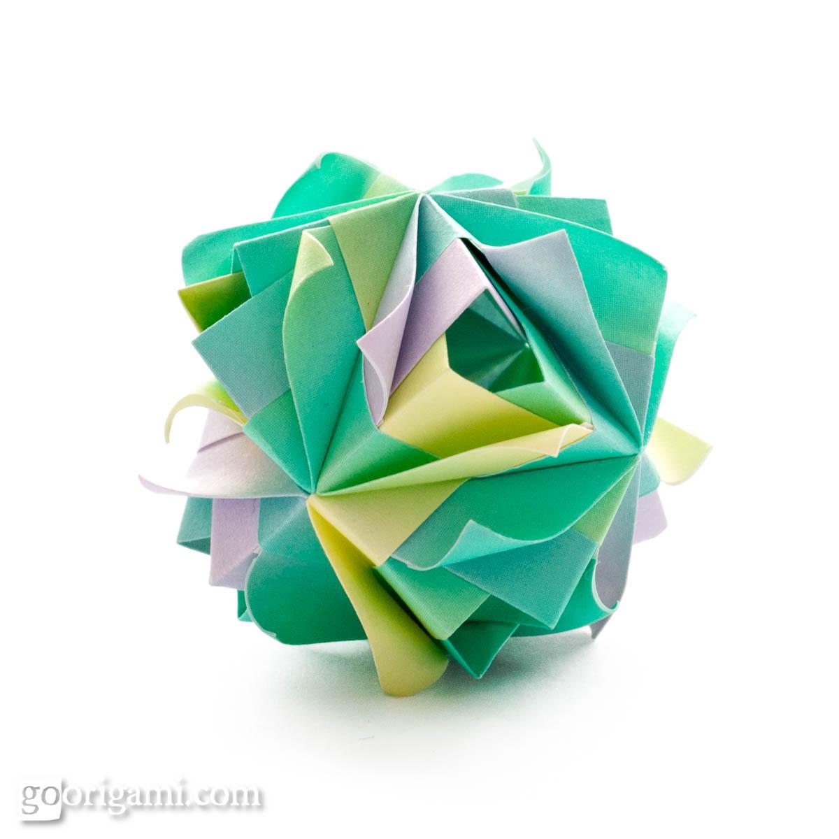 Etna Kusudama by Maria Sinayskaya — Diagram | Go Origami - photo#41