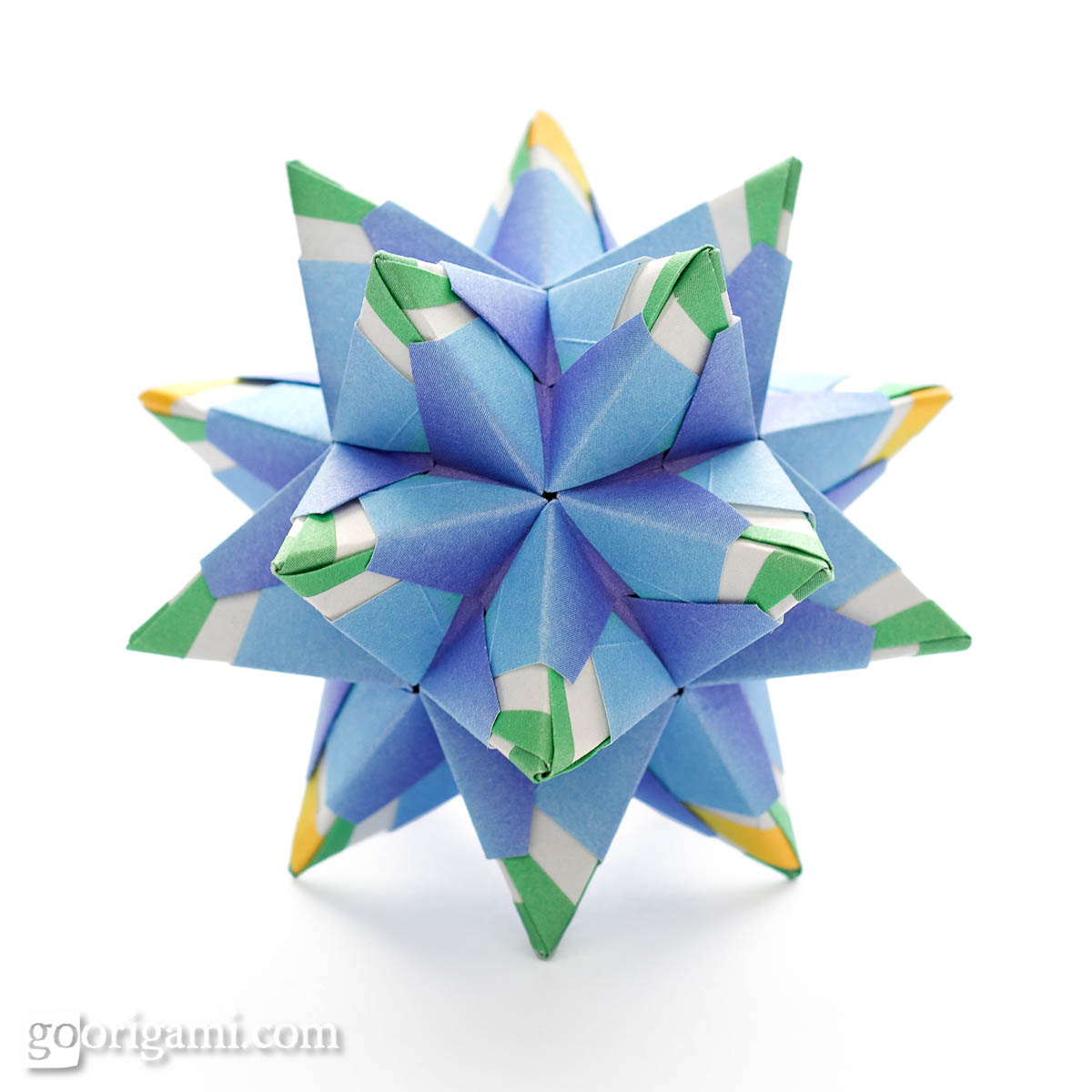 Chandelle kusudama by maria sinayskaya diagram go origami chandelle kusudama jeuxipadfo Gallery