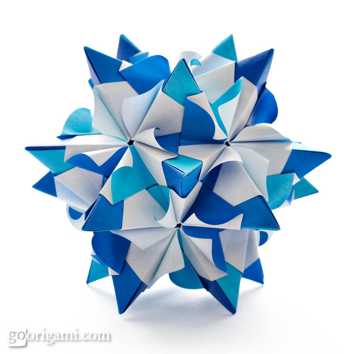 Chandelle Kusudama by Maria Sinayskaya — Diagram | Go Origami - photo#42
