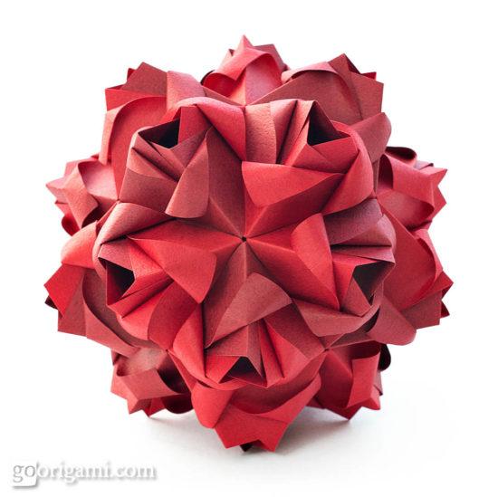 Little Kusudama Origami no  origami glue Go kusudama  Roses