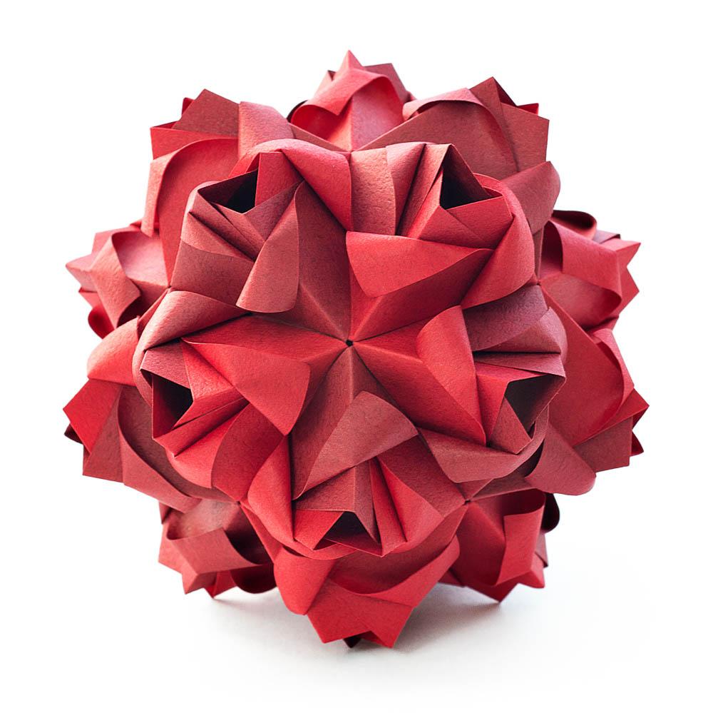 Little Roses Kusudama By Maria Sinayskaya Diagram Go Origami