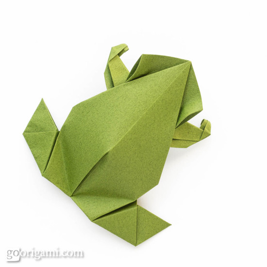 precolumbian style origami frog by leyla torres go origami