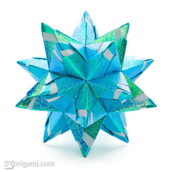 Origami Star Ball Diagram
