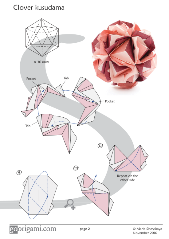 Clover Kusudama Diagram Page 2
