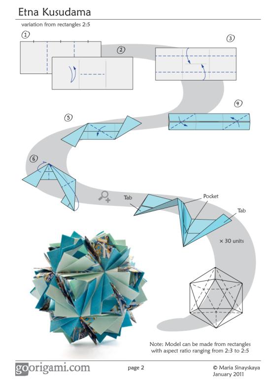 Etna Kusudama Diagram Page 2