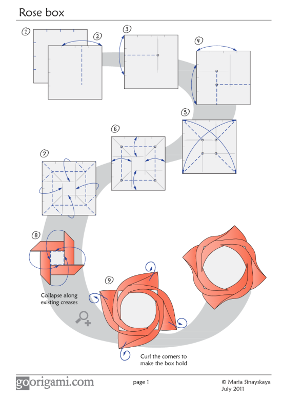 Marvelous Rose Box By Maria Sinayskaya Diagram Go Origami Wiring Digital Resources Honesemecshebarightsorg