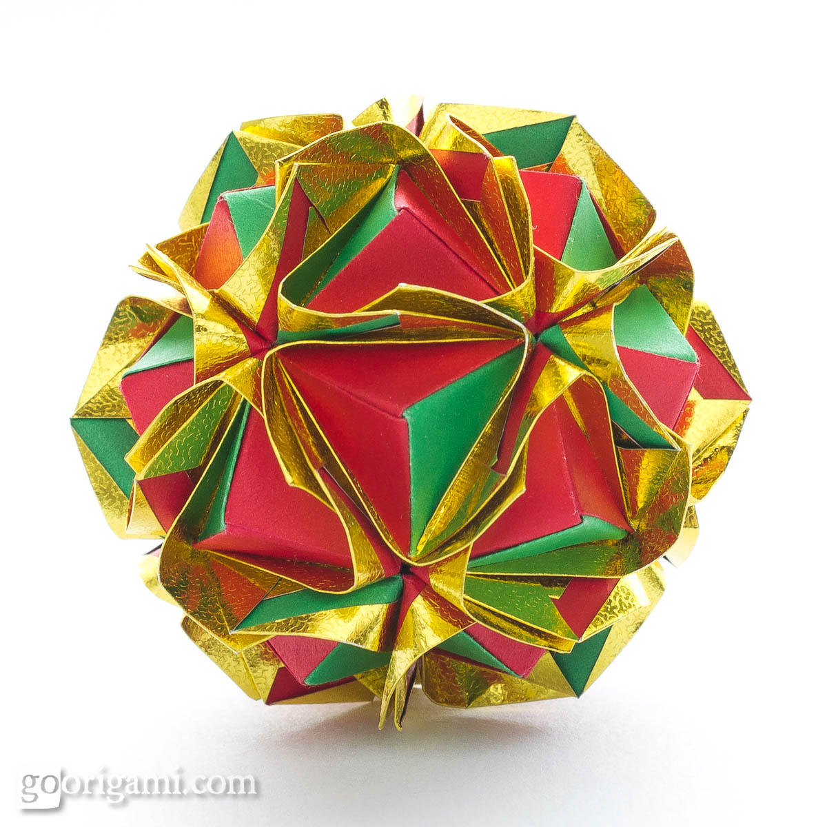 clover kusudama by maria sinayskaya � diagram go origami