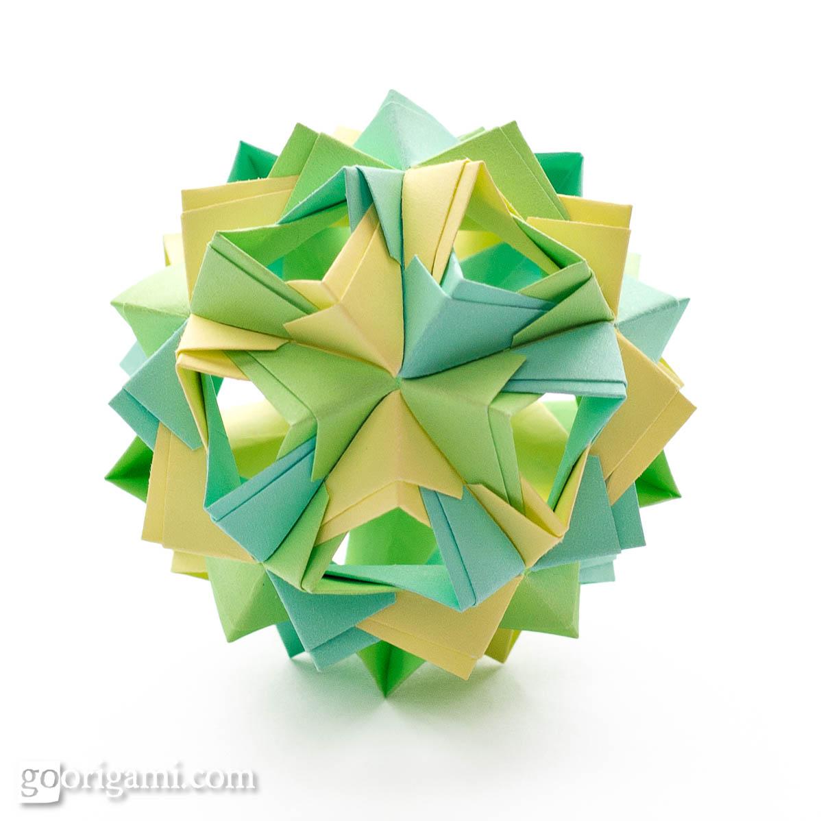 Modular Origami - balls and polyhedra folded by Michał Kosmulski | 1198x1198