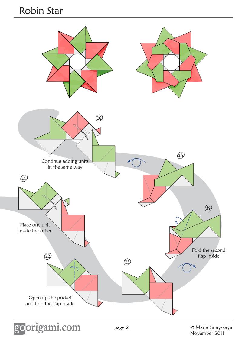 Star Diagram | Robin Star By Maria Sinayskaya Diagram Go Origami