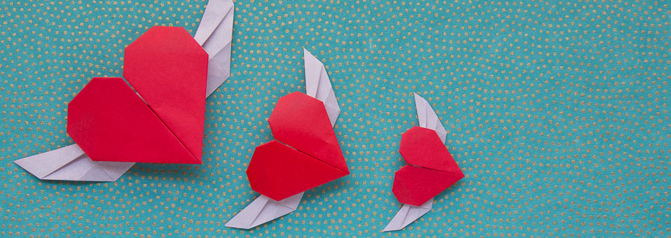 Flying Origami Heart