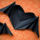 Bat-Winged Heart — Halloween Origami
