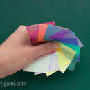 Chameleon Shiny Origami Paper